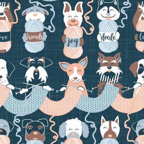 Knitting dog feelings II // normal scale