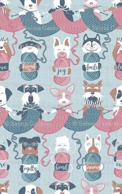 Knitting dog feelings III // small scale