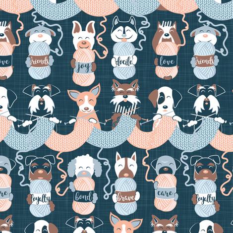 Knitting dog feelings II // small scale fabric by selmacardoso on Spoonflower - custom fabric