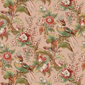 Edwardian Parrot ~ Dogwood Dream on Elizabeth _ Peacoquette De