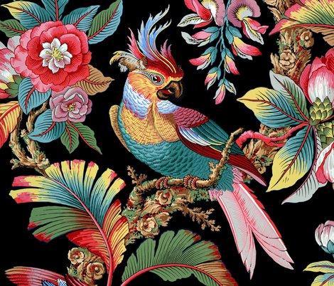 Redwardian-parrot-bright-on-black-peacoquette-designs-copyright-2018_shop_preview