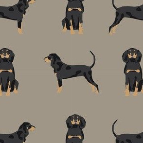 coonhound simple dog breed fabric medium brown