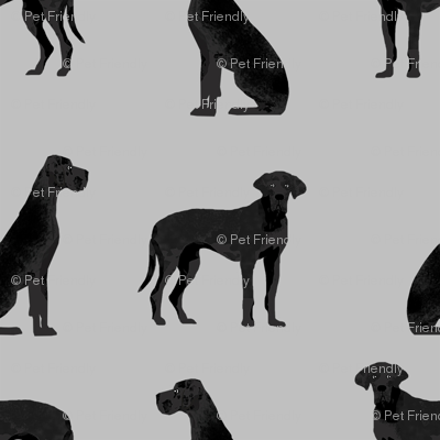 great dane black simple dog breed fabric grey