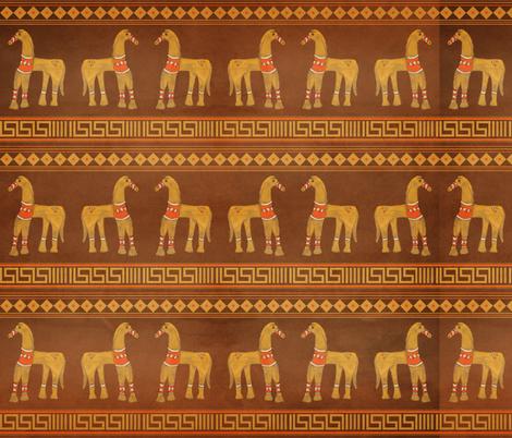 Grekos Horses fabric by uncommondepth on Spoonflower - custom fabric