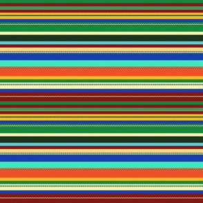 Narrow Color Burst Stripes  - AQ