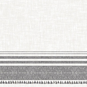 FRENCH LINEN CHARCOAL TASSEL WIDE
