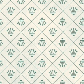 Spanish tile design - Green - by Mount Vic and Me