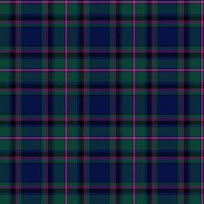 "Cooper / Couper tartan #2 plain, 6"" muted"