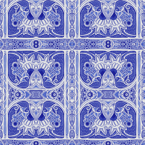 On the Blue Altar of Posiness fabric by edsel2084 on Spoonflower - custom fabric