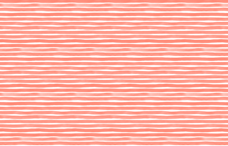Watercolor Stripes M+M Coral by Friztin fabric by friztin on Spoonflower - custom fabric