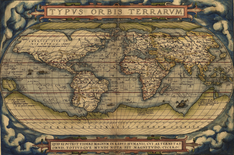"""1564 World Map (54""""W) fabric by thinlinetextiles on Spoonflower - custom fabric"""