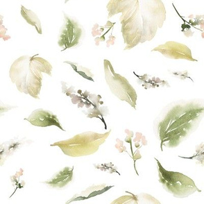 "8"" Pale leaves / Mix & Match Pale Blush Florals"