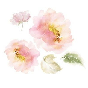 "8"" Pale Blush Florals Version 3"