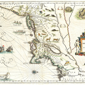 "1635 Map of New England (56""W)"