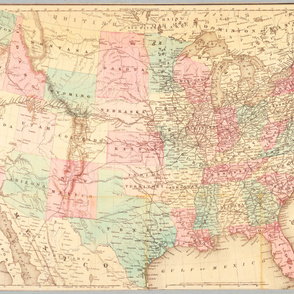 "1871 USA Railroad Map (56""W"")"