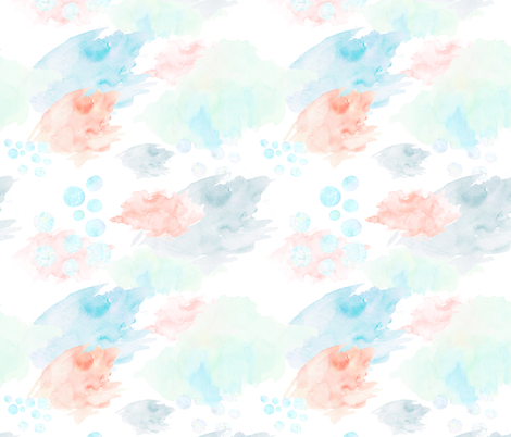 "21"" Chloe the Mermaid / Color Splashes / Darker Shade fabric by shopcabin on Spoonflower - custom fabric"
