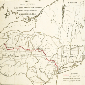 "1842 New York & Lake Erie Railroads (42""W)"