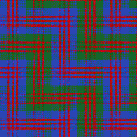 "Flora MacDonald portrait tartan, 3"" fabric by weavingmajor on Spoonflower - custom fabric"