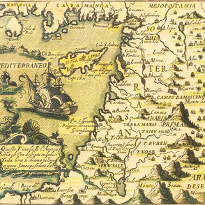 """1598 Map of the Levant (21""""W)"""