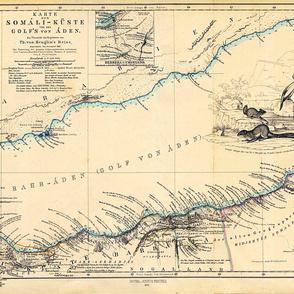 "1860 Gulf of Aden Map (27""W)"