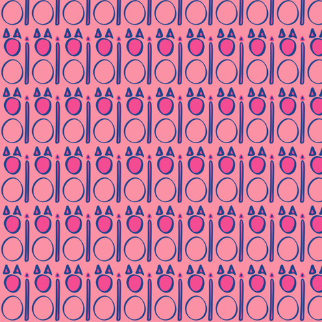 Pussy Hat Pink Kitty Sentries fabric by cleolovescolor on Spoonflower - custom fabric