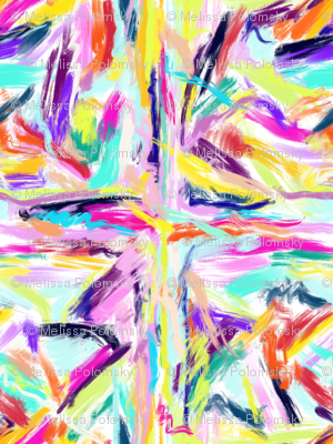 Vibrant painted summer abstract