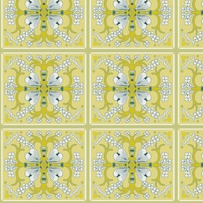 Dogwood Spanish Tiles - Spring Yellows - Medium Scale
