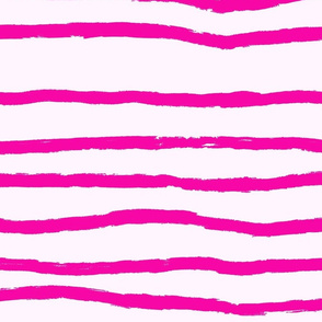 Sketchy Stripe// Hot Pink (Extra Large)