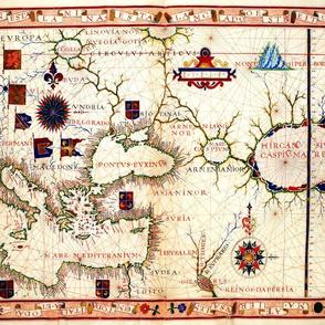 "1570 Map of Armenia (21""W)"