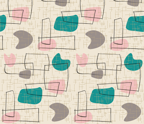 Savo - Teal fabric by theaov on Spoonflower - custom fabric