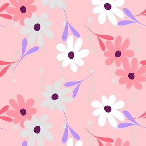 Double Daisy - Pink