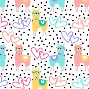 Nerdy Llama Polka Dots
