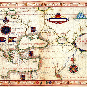 "1570 Map of Armenia (27""W)"