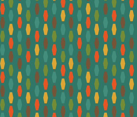 Colima - Teal fabric by theaov on Spoonflower - custom fabric