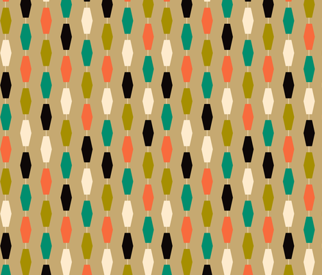 Colima - Tan fabric by theaov on Spoonflower - custom fabric