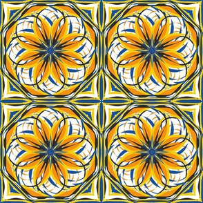 Sunny Flower Terrace Tiles
