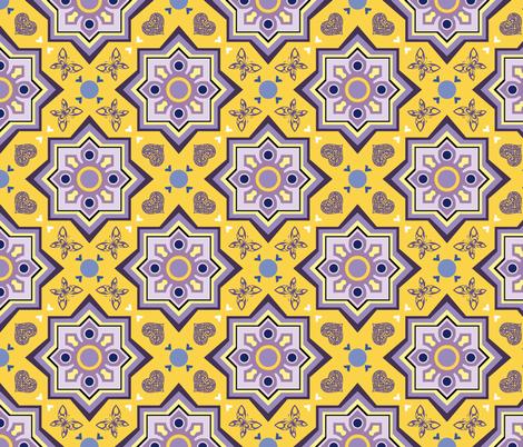 azulejo corazón fabric by colorofmagic on Spoonflower - custom fabric
