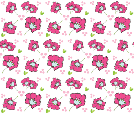 Spring blooms MED7- hotty pink sea  fabric by drapestudio on Spoonflower - custom fabric