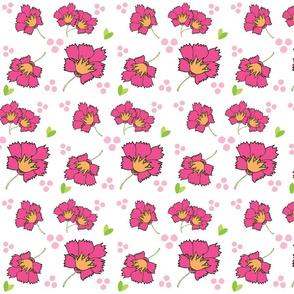 Spring blooms MED7- hotty pink tangerine