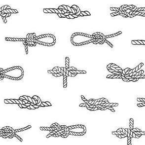 knots // sailing rope tying knots ships sailboat seaside fabric white grey