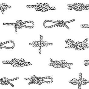 knots // sailing rope tying knots ships sailboat seaside fabric white