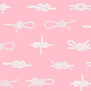 knots // sailing rope tying knots ships sailboat seaside fabric pink