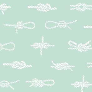 knots // sailing rope tying knots ships sailboat seaside fabric mint