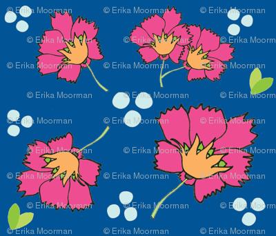 Spring blooms MED7- hotty pink  ocean