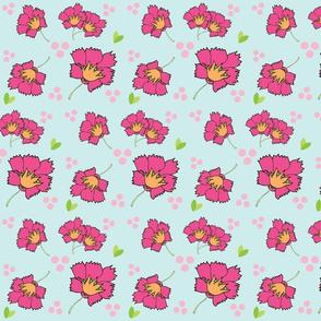 Spring blooms MED7- hotty pink seafoam petal