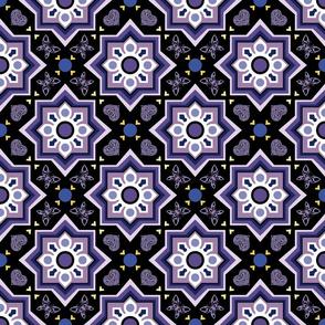 spanish tiles dark violet
