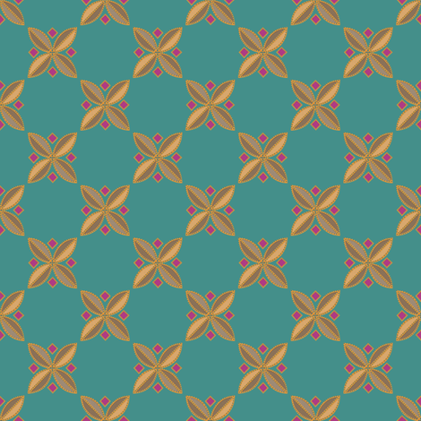 Tiny Tiles on #448f8a fabric by anniedeb on Spoonflower - custom fabric