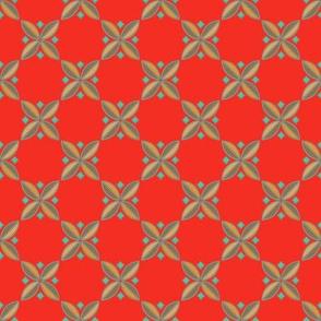 Tiny Tiles on #f42e23