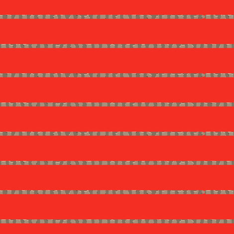 Grouted Pinstripes on #f42e23 fabric by anniedeb on Spoonflower - custom fabric