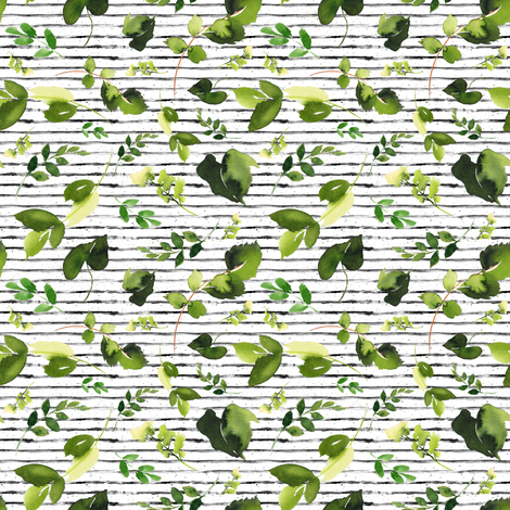"4"" BOHO SKULL LEAVES / MIX & MATCH / BLACK STRIPES fabric by shopcabin on Spoonflower - custom fabric"